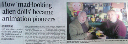 Image of Irish Times article